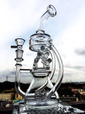 Spitzenverkaufen15 Stärke des Zoll-5mm grösseres Handblown rauchendes Wasser-Glasrohr