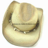 Papel de color mixto trenza cosida trenza sombrero de Fedora de la paja