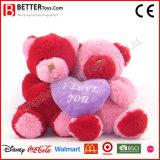 Urso animal macio do brinquedo do presente de casamento do Valentim