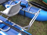 Peschereccio gonfiabile del PVC del singolo kajak misura con il motore