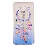 Electrochapar el pegamento que pinta la caja transparente del teléfono de la mandala TPU de la pluma para Huawei P8/LG G5/HTC 626 (XSDD-076)