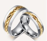 Anel de casamento feito sob encomenda do ouro da jóia do estilo novo
