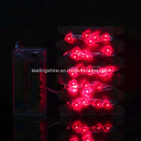 Quirlandes électriques de batterie extérieure du coeur 40 DEL sur le câble de cuivre argenté de chaîne de caractères de 4m