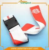 Courroie personnalisée de bagage de polyester de course