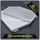 Décoration en aluminium colorée de revêtement de mur de panneau composé en aluminium de PVDF