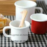 A fábrica vende por atacado a caneca de café da caneca do leite da caneca do esmalte para o presente para a propaganda 8oz 10oz 12oz