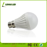 Do Ce plástico da luz de bulbo do diodo emissor de luz do fornecedor de China bulbo 2017 energy-saving do diodo emissor de luz do poder superior B22 7W SMD5730 da luz de bulbo do diodo emissor de luz de RoHS