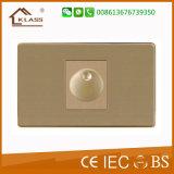 Interruttore elettrico della parete di colore 500W del ventilatore dorato del regolatore della luminosità