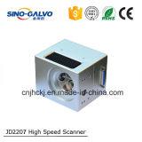 Testa d'attacco del laser della fibra dell'apertura 20W del fascio di Jd2207 12mm con il segnale numerico