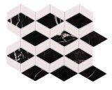 Mosaico di vetro di pietra di marmo bianco scuro del Rhombus