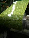 高品質の低価格の緑の底プリント赤い花PPGI