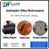 Прямоугольный поднимаясь Electro магнит для катушки штанги провода поднимая MW19-14072L/1