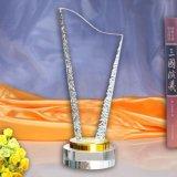 Het vrije Embleem paste de AcrylToekenning van het Kristal van de Trofee aan