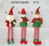 "28 de "" Doorknob H Santa, de boneco de neve e de duende, decoração do Asst-Natal 3"