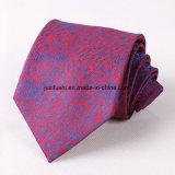 Il poliestere di modo barrato lega la cravatta all'ingrosso degli uomini del jacquard