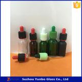 Красная зеленая покрашенная стеклянная пипетка капельницы для сбывания