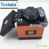 Machine de vente chaude Tcw-605 de colleuse avec un fendoir de fibre d'opération/colleuse de fibre optique