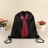 Оптовый изготовленный на заказ дешевый мешок Backpack Drawstring полиэфира для промотирования