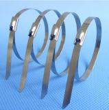 Chinese-Fertigung-Edelstahl-Metallkabelbinder mit Kugel-Verschluss