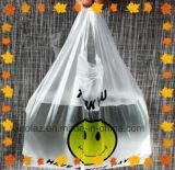 Полиэтиленовый пакет рециркулированный супермаркетом подгонянный поли