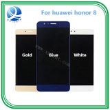 100% pantallas de visualización originales de trabajo del tacto del honor 8 del LCD Huawei