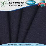 Tela del dril de algodón del algodón del Spandex de la materia textil del añil que hace punto para los pantalones vaqueros
