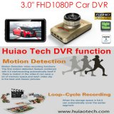 """Carro cheio DVR da tela HD1080p HD da venda quente 3.0 de """" na caixa negra escondida traço do carro construída 6g na lente, ângulo de vista 170degree, WDR, movimento Dectection, câmara de vídeo DVR-3014 do carro"""