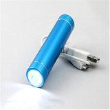 LED Mobielの電話電池が付いている携帯用2200mAh懐中電燈のトーチ力バンク
