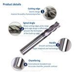4 Molens van het Eind van het Carbide van de fluit de naco-Blauwe Stevige voor Scherp Metaal