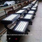 Luz barata da cor da cidade do diodo emissor de luz da luz 72PCS 10W da arruela da parede do preço DMX