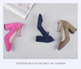(Donna-in) Form-quadratische Zehe-Absatz-echtes Leder-Frauen-Schuhe
