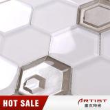 Превосходная плитка мозаики шестиугольника оптовой продажи качества дешево покрашенная для стены дома