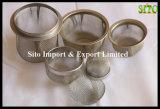 ステンレス鋼の金網の編まれたこし器の要素