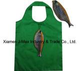 Sacchetto promozionale di acquisto pieghevole, stile animale dei pesci, sacchetti riutilizzabili, leggeri, di drogheria e pratico, regali, accessori & decorazione