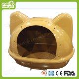 Casa plástica do gato da forma da face do gato da alta qualidade & casa de cão