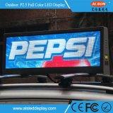HD P5 im Freien örtlich festgelegtes wasserdichtes Taxi-Oberseite LED-Bildschirmanzeige-Zeichen
