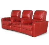 Sofà di cuoio d'angolo sezionale di legno moderno (UL-NS545)