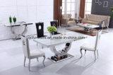 Tabella pranzante superiore 868# del marmo della base dell'acciaio inossidabile