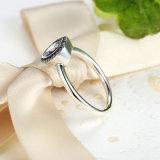 Heiße Verkaufs-Inner-Form CZ-grosses Steinsterlingsilber 925 Ringe