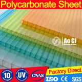 Hoja hueco del policarbonato de la Gemelo-Pared 6m m