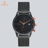 Bessere Qualität passte Chronograph-Uhr-Männer mit Edelstahl-Ineinander greifen-Band 72130 an