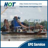 Kundenspezifischer hoher Wiederanlauf-Bergwerksmaschine-Becherkette-Goldbagger