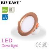 5W éclairage d'or de projecteur du gestionnaire Integrated DEL Downlight de 3.5 pouces