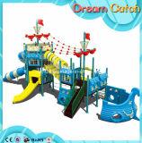 Скольжение установленного напольного парка атракционов игры Playzone малышей пластичное