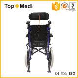 Manuale adagiantesi Disabled Handicapped di alluminio della sedia a rotelle di paralisi cerebrale