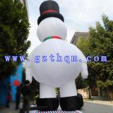 Caractère d'amusement annonçant le bonhomme de neige gonflable/bonhomme de neige gonflable pour l'étalage de vacances
