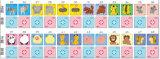 Japón embroma las tarjetas que juegan de la educación de la historieta (47782)