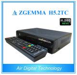 Hevc H. 265 Zgemma H5.2tc DVB-S2+ combinado 2*DVB-T2/C livra para arejar o receptor da televisão satélite