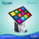 Terminale Android tutto di posizione del codice a barre POS-B10 in un PC con la stampante
