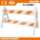 Blanc / Orange plastique PVC sécurité routière Barricade